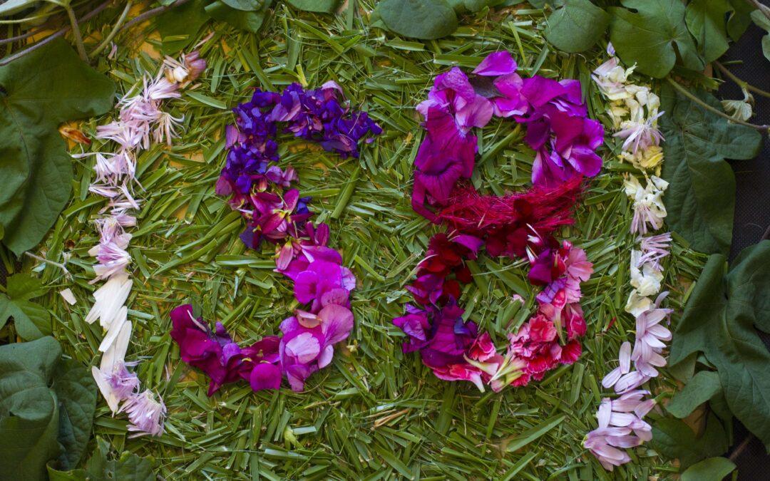 Una cascada de flores